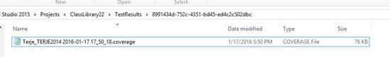 Параллельное выполнение тестов с учетом контекста с использованием Visual Studio 2015 Update 1 - 5