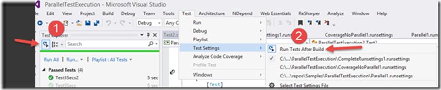 Параллельное выполнение тестов с учетом контекста с использованием Visual Studio 2015 Update 1 - 8