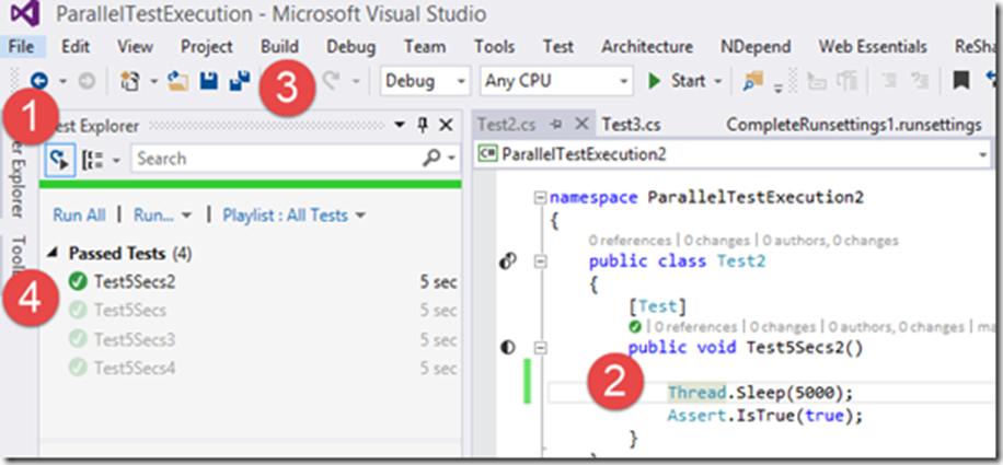 Параллельное выполнение тестов с учетом контекста с использованием Visual Studio 2015 Update 1 - 9