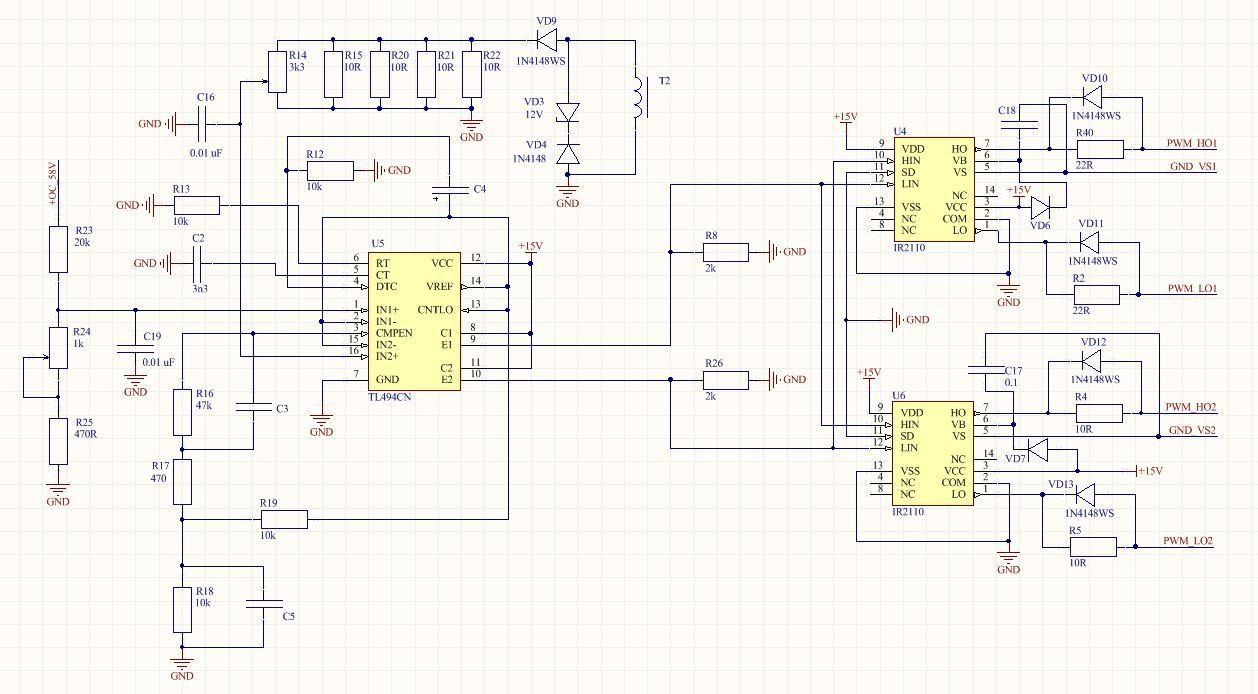 Полная схемотехника активного ККМ и зарядного устройства для ИБП 3 кВт - 2