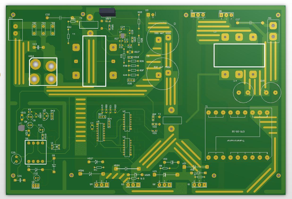 Полная схемотехника активного ККМ и зарядного устройства для ИБП 3 кВт - 6