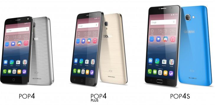 Alcatel анонсировала смартфоны Pop4, Pop4+ и Pop4S