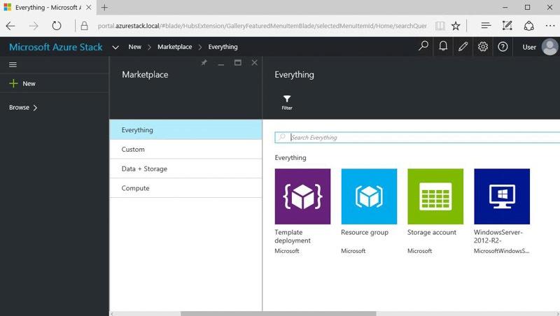 Обзор возможностей Azure Stack Technical Preview 1 - 1