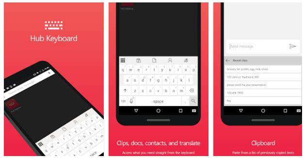 Microsoft выпустила приложение Hub Keyboard в Google Play