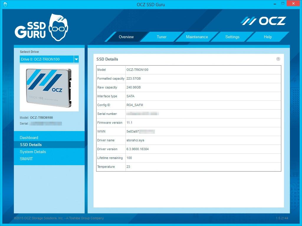 Обзор SSD-накопителя OCZ Trion 100 - 16
