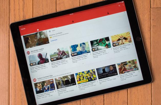 Приложение YouTube для iPad Pro, наконец, обзавелось поддержкой родного разрешения планшета
