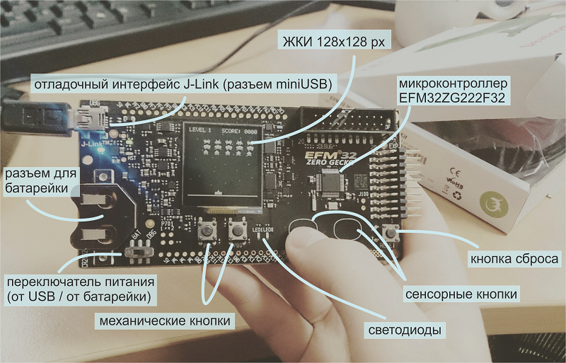 Статья про микроконтроллер EFM32ZG110F32 - 3