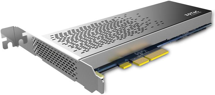 Твердотельный накопитель Zotac Sonix соответствует спецификации NVMe 1.2