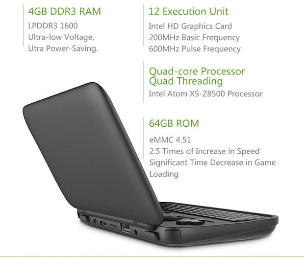 GPD Win будет основана на SoC Intel Atom x5-Z8500