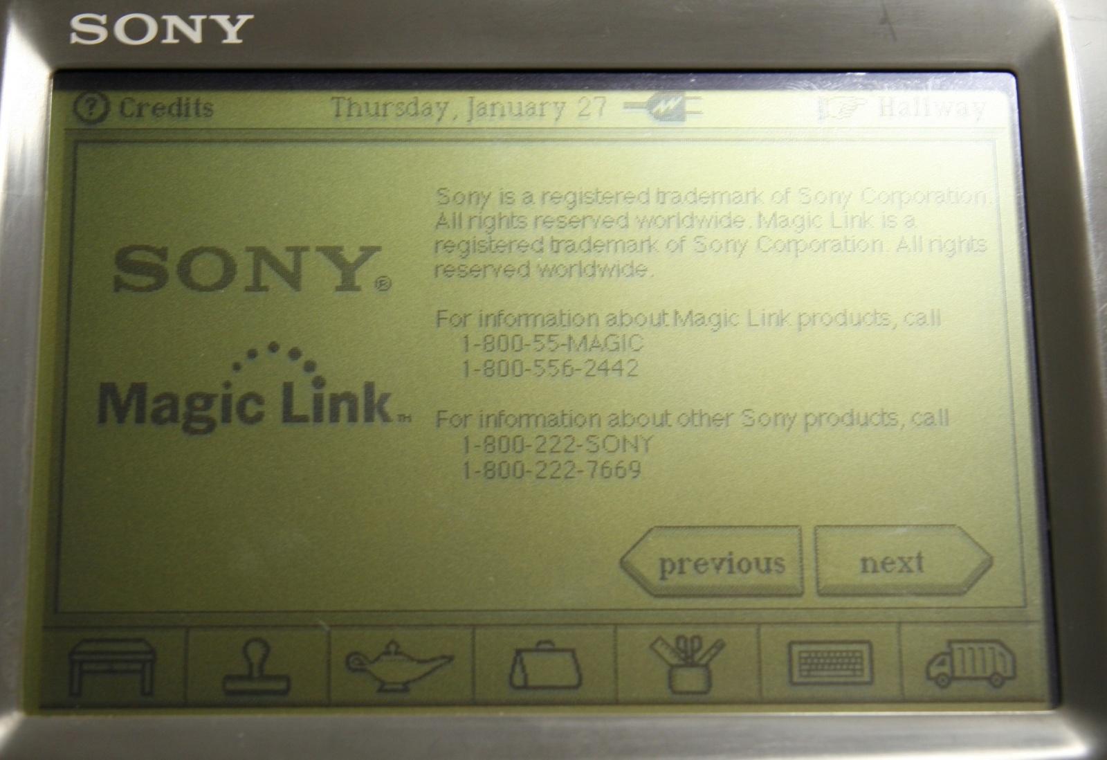 Sony Magic Link — первое устройство на ОС Magic Cap - 14