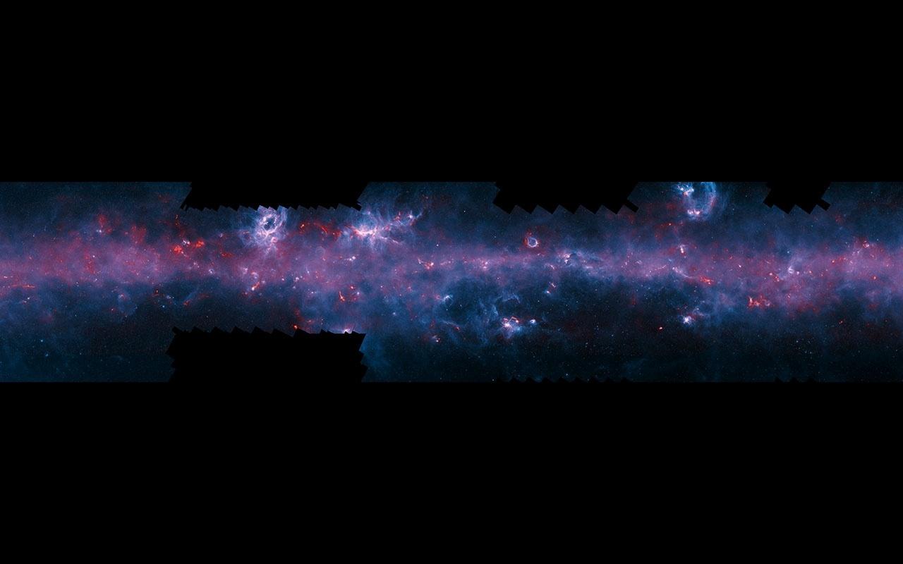 Млечный Путь изучили в субмиллиметровом диапазоне. Проект ATLASGAL завершен - 1