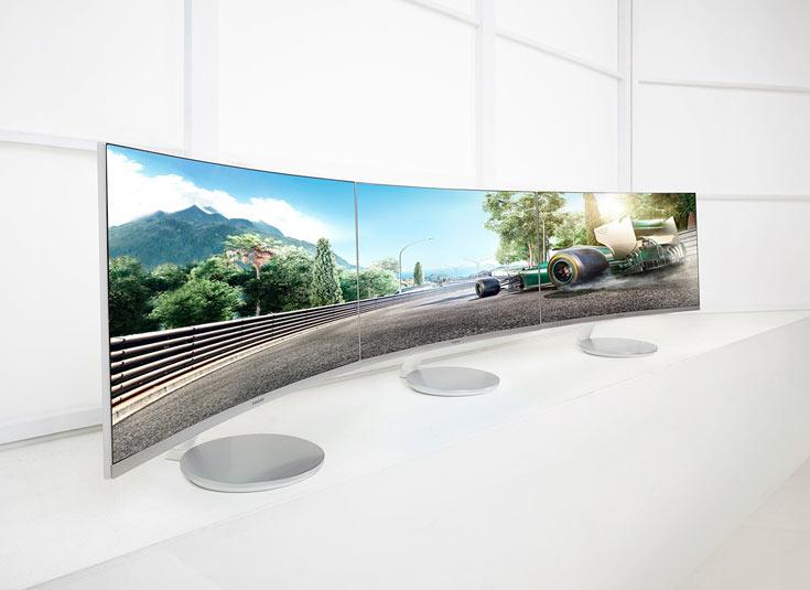Радиус изгиба экранов Samsung CF591 и CF390 — 1800 мм