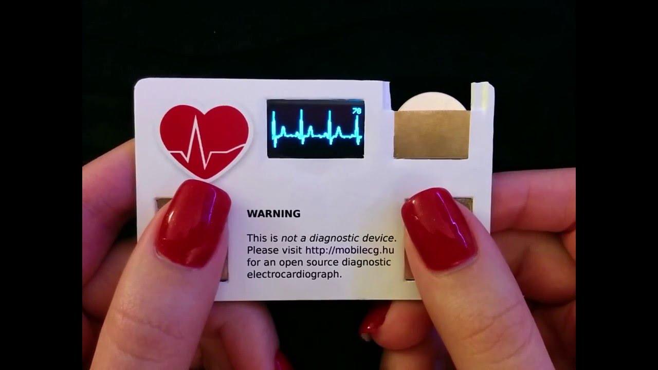 Компания MobilECG встроила open-source пульсометр в визитку - 1