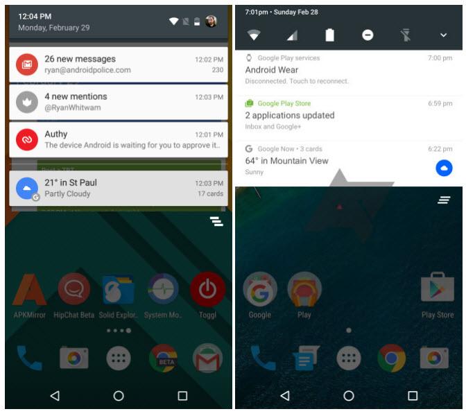 Первые изображения операционной системы Android N