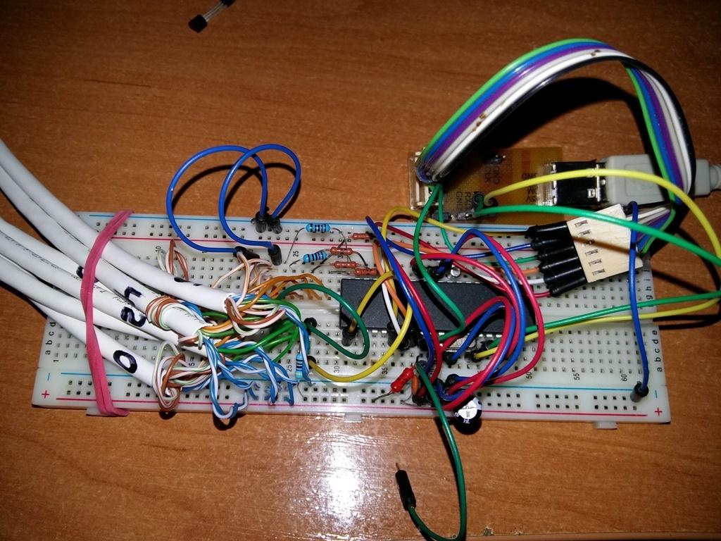 ATmega16 + DS18B20 + LED + Matlab-Simulink=AR - 3
