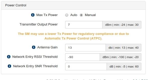 Что нужно знать при конфигурации мощности передатчика ePMP 1000 от Cambium Networks - 2