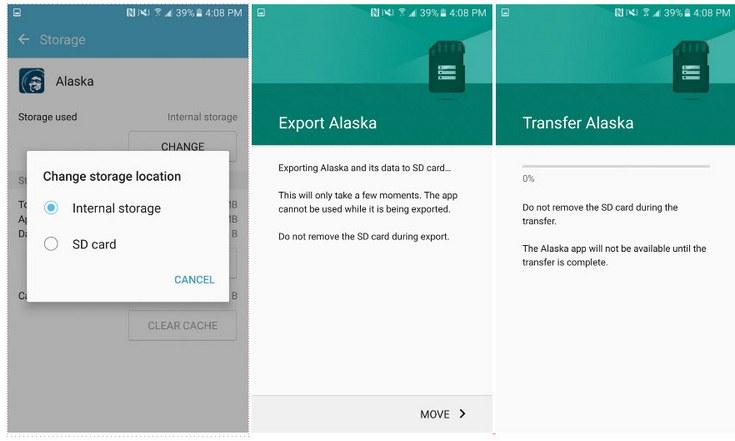Системные файлы и предустановленные приложения Samsung Galaxy S7 занимают 8 ГБ, пользователи могут переносить приложения на карту памяти