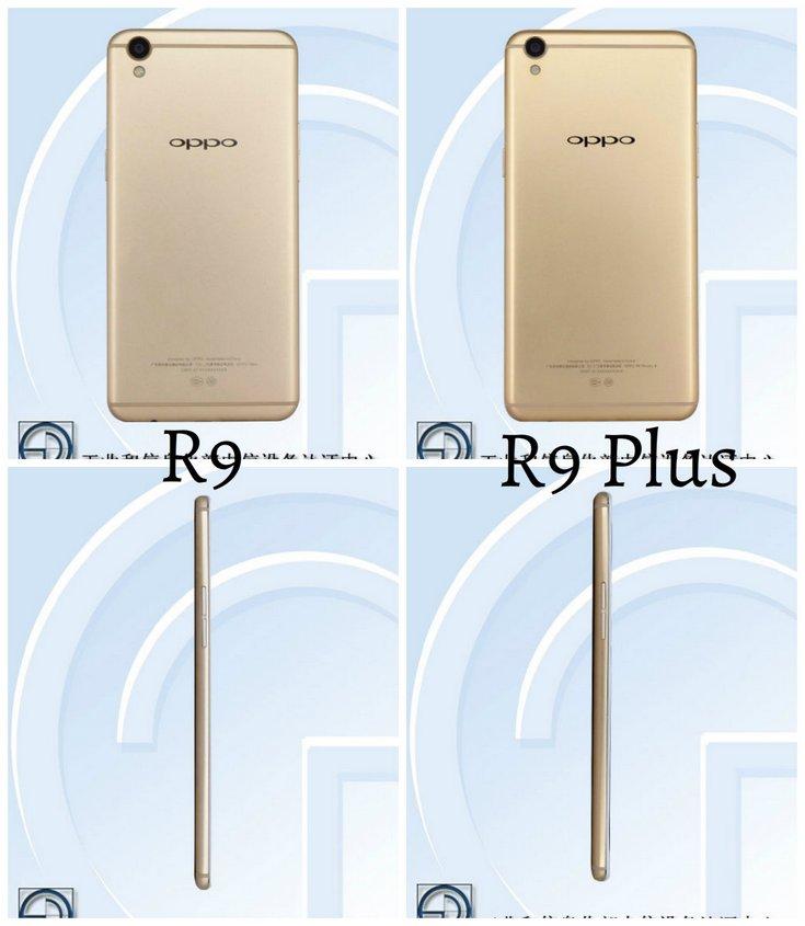 Смартфоны Oppo R9 и  R9 Plus появились в базе TENAA. Пятиминутной зарядки хватит для двух часов разговоров благодаря технологии VOOC