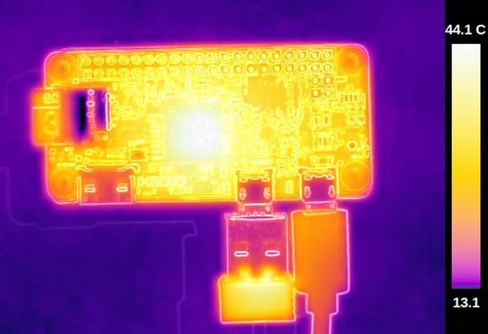 Термосъёмка Raspberry Pi 3 показала температуру 101ºC - 3