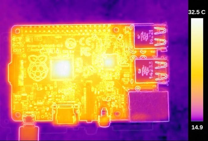Термосъёмка Raspberry Pi 3 показала температуру 101ºC - 4