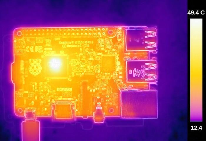 Термосъёмка Raspberry Pi 3 показала температуру 101ºC - 5