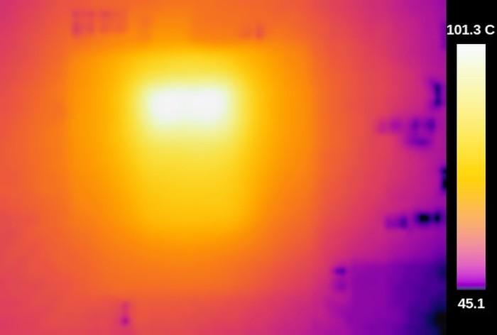 Термосъёмка Raspberry Pi 3 показала температуру 101ºC - 7