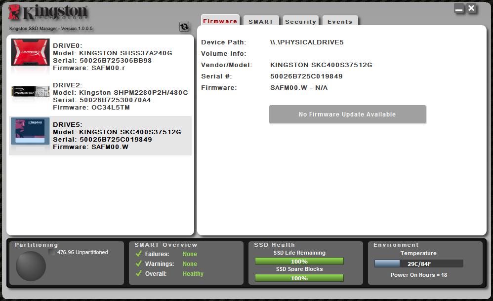 Твердотельный накопитель для корпоративного сегмента Kingston KC400 емкостью 512 гигабайт - 5