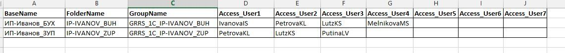 Автоматизация легкого управления списками баз 1С - 2