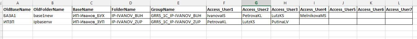 Автоматизация легкого управления списками баз 1С - 1