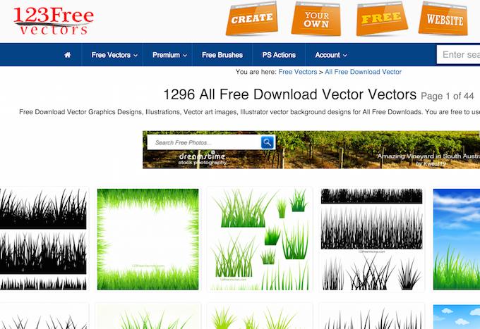 Векторная графика бесплатно — подборка сайтов - 19