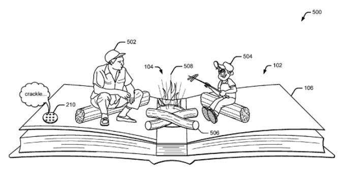 Google запатентовала интерактивную книгу с элементами дополненной реальности и датчиками, встроенными в страницы