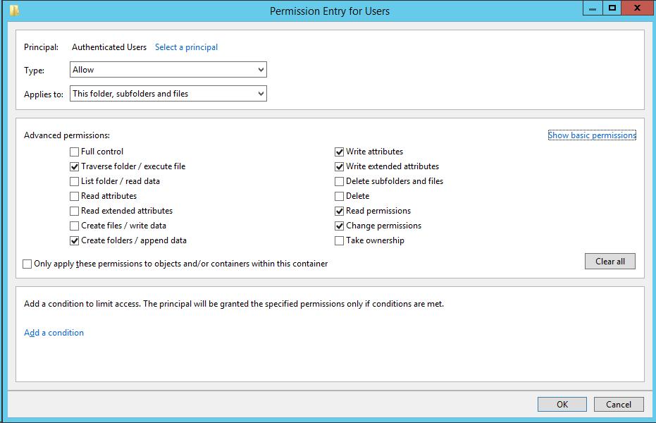 Добавление сетевых дисков с персональными папками для пользователей через GPP на примере Windows Server 2012R2 - 2