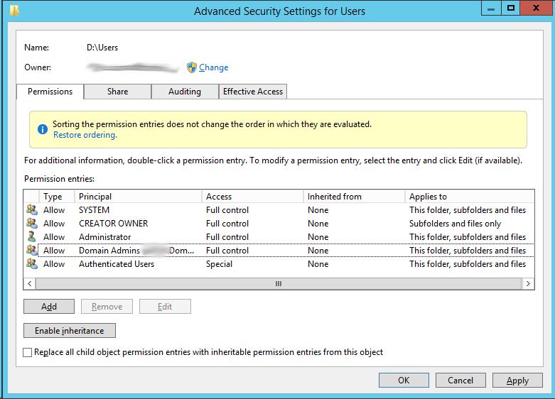 Добавление сетевых дисков с персональными папками для пользователей через GPP на примере Windows Server 2012R2 - 3