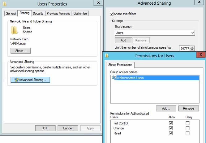 Добавление сетевых дисков с персональными папками для пользователей через GPP на примере Windows Server 2012R2 - 4