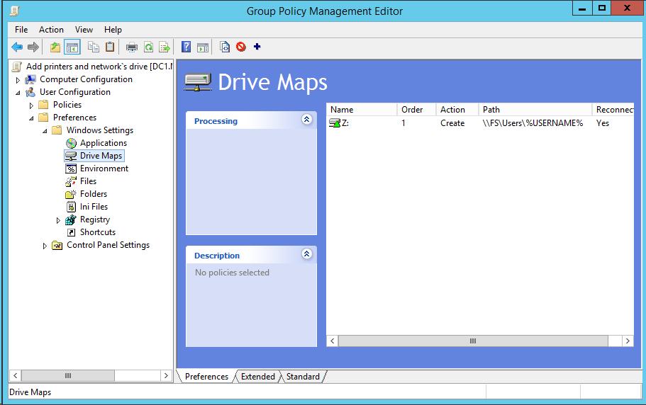 Добавление сетевых дисков с персональными папками для пользователей через GPP на примере Windows Server 2012R2 - 6