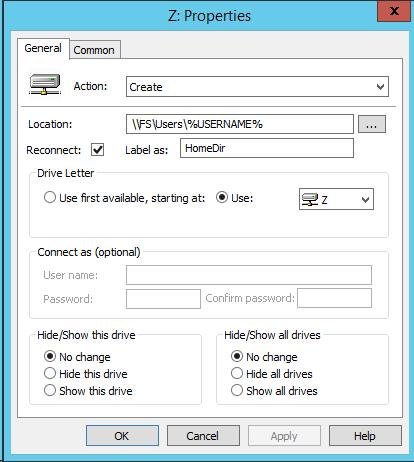 Добавление сетевых дисков с персональными папками для пользователей через GPP на примере Windows Server 2012R2 - 7