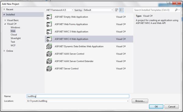 Как написать простой блог с помощью Asp .Net MVC, Nhibernate и Nineject.Часть 1 - 2