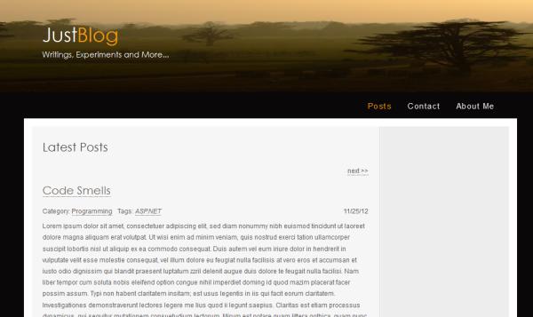 Как написать простой блог с помощью Asp .Net MVC, Nhibernate и Nineject.Часть 1 - 1