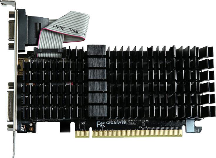 Графический процессор 3D-карт GV-N710SL-1GL и GV-N710SL-2GL работает на частоте 954 МГц