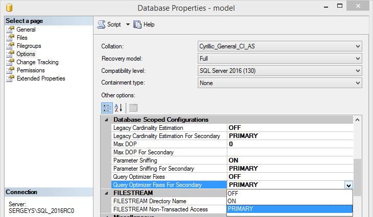 SQL Server 2016 RC0 - 12