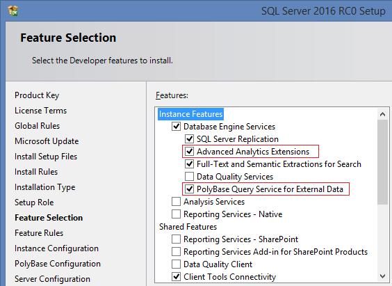 SQL Server 2016 RC0 - 2