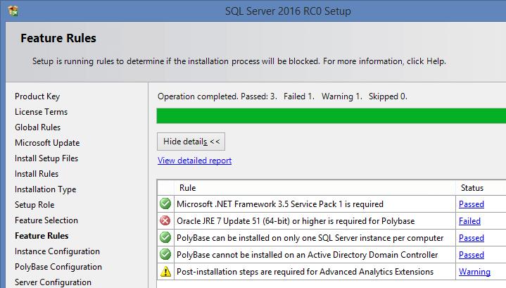 SQL Server 2016 RC0 - 3