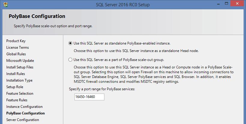 SQL Server 2016 RC0 - 4