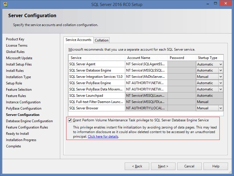 SQL Server 2016 RC0 - 5