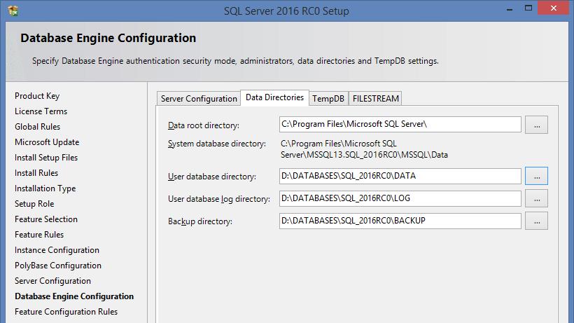 SQL Server 2016 RC0 - 6