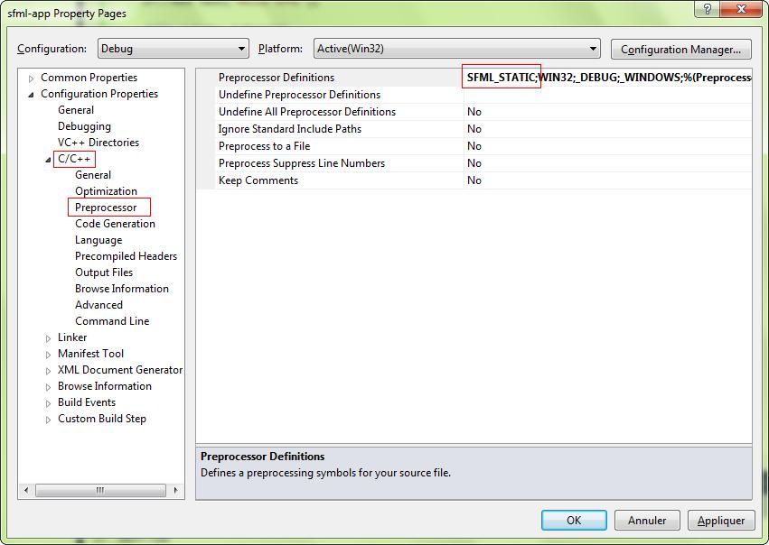 SFML и Visual Studio - 3