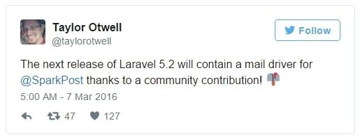 Что нового ждет нас в Laravel 5.2.23 - 2