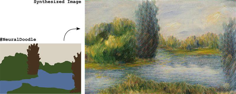 Нейросеть превращает каракули в художественные шедевры - 1
