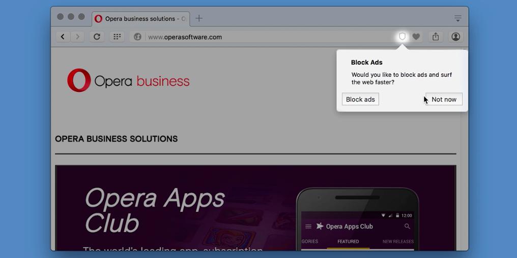 Вышел браузер Opera со встроенным блокировщиком рекламы - 2