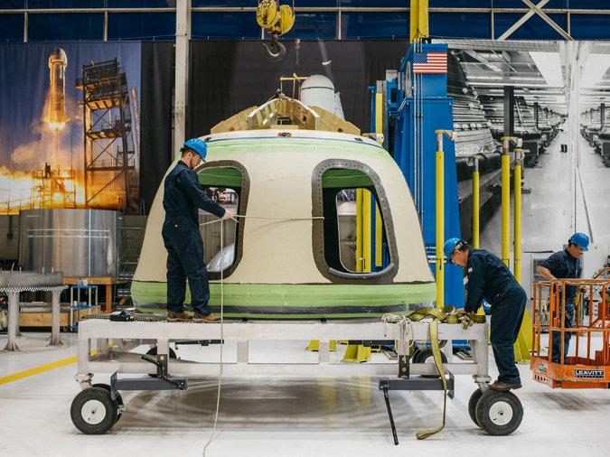 Blue Origin активно готовится к эпохе космического туризма